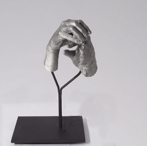 Julie Rrap, One Hand Making the Other Hand, Instrument Series, 2016. Finalist in the Woollahra Small Sculpture Prize